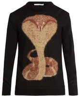 Givenchy Cobra-intarsia Mohair-blend Sweater
