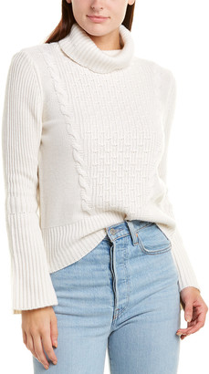 Forte Cashmere Cable-Knit Cashmere Pullover