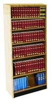 Heller W.C. Double Face Standard Bookcase W.C. Finish: Spiced Walnut, Size: 82'' H x 37.75'' W x 16'' D