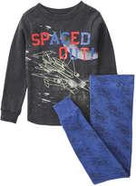 Joe Fresh Toddler Boys' Graphic 2 Piece Sleep Set, Dark Charcoal (Size 4)