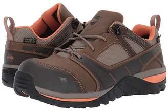 Irish Setter Rockford Oxford Non-Metallic Safety Toe (Brown/Peach) Women's Work Boots