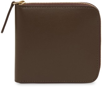 Mansur Gavriel Calf Men's Zip Around Wallet - Chocolate