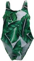 Charm Kingdom Little Baby Girls Tropical Leaves Print One Piece Bathing Suit Swimsuit