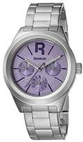 Reebok Classic R Women's Quartz Watch with Purple Dial Analogue Display and Silver Stainless Steel Bracelet RC-CDR-L5-S1S1-VU
