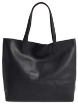 Sole Society Oversize Faux Leather Shopper - Black