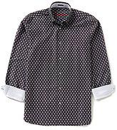 Visconti Long-Sleeve Diamond Woven Shirt