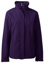 Lands' End Women's Regular Sport Squall Jacket-Zesty Orange/Soapstone