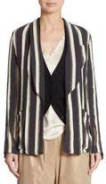 Brunello Cucinelli Silk Striped Jacket