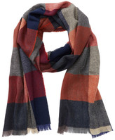 Tommy Bahama Cashmere & Wool Squares Print Wrap Scarf