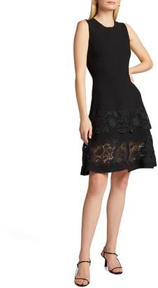 Carolina Herrera Guipure Lace Fit & Flare Dress