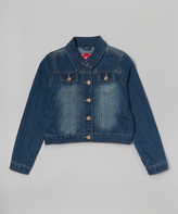YMI Jeanswear Blue Denim Crop Jean Jacket - Girls