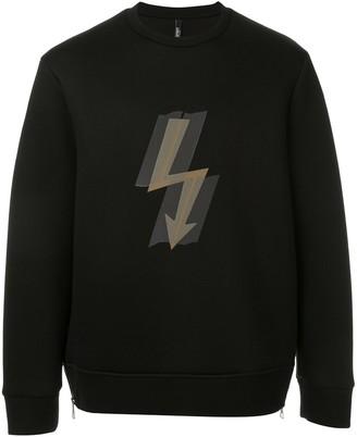 Neil Barrett Thunderbolt Print Sweatshirt