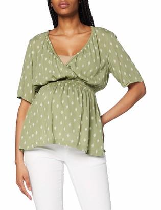Mama Licious Mamalicious Women's Mlxenia L/s Woven Short Top Blouse