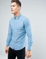 Esprit Shirt In Slim Fit With Jaquard Stitch Detail
