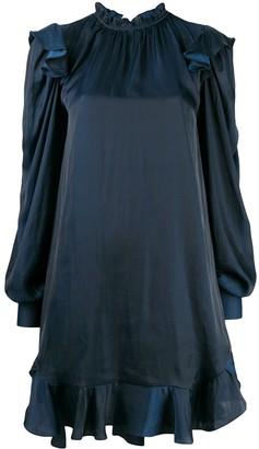 Zadig & Voltaire Satin Ruffled Neck Dress