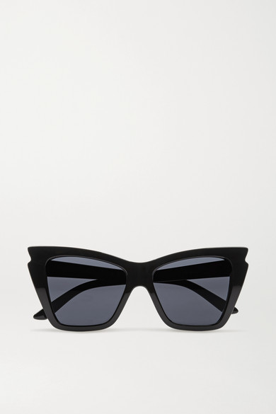 Le Specs - Rapture Cat-eye Acetate Sunglasses - Black