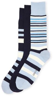 Cole Haan 3-Pack Town Stripe Crew Socks