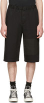 McQ by Alexander McQueen Black Panelled Chino Shorts