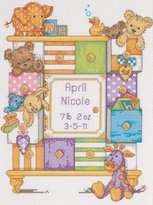 "Dimensions Baby Drawers Birth Record"" Counted Cross Stitch Kit, Multi-Colour"
