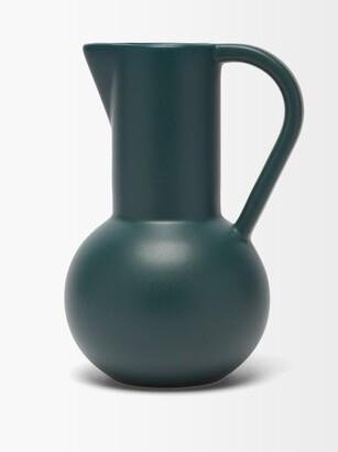 Raawii - Strm Large Ceramic Jug - Dark Green