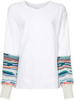 Facetasm striped sleeves jumper
