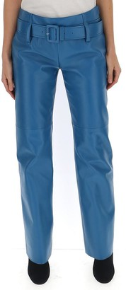 Prada Leather Flared Pants