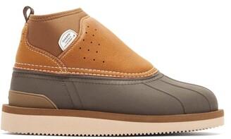 Suicoke Bee-wpab Waterproof Leather Boots - Womens - Black Tan