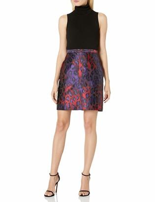 Anne Klein Women's Animal Jacquard Pencil Skirt