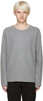 Attachment Grey Raw Edge Sweater