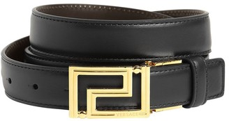 Versace 25mm Greca Logo Reversible Leather Belt