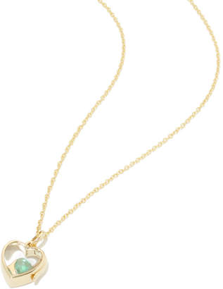 Loquet 14K Small Heart Locket & Gold Chain