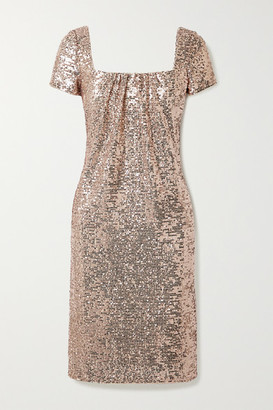 Reem Acra Sequined Tulle Dress - Pink