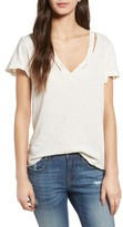 LnA Women's Fallon Cutout V-Neck Tee