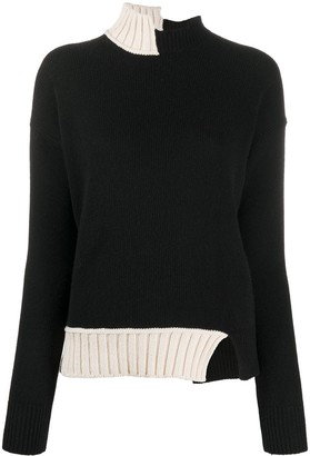 Marni Asymmetric High-Neck Jumper