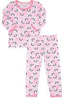 Esme Panda-Print Cotton-Blend Jersey Pajamas