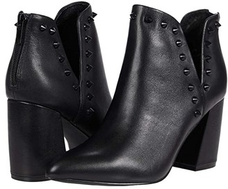 Steve Madden Glow Bootie (Black Leather) Women's Shoes