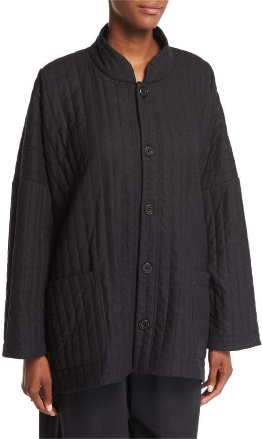 eskandar Cropped Stretch-Wool Trousers