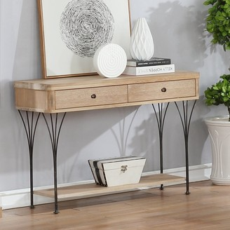 Bolton Furniture Thetford Weathered Wood Media Console Table