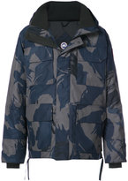 Canada Goose hooded camouflage coat