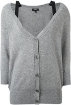 Theory cashmere bell neckline button up cardigan