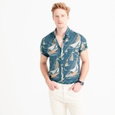 J.Crew Slub cotton short-sleeve shirt in sailboat print