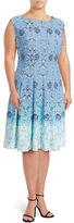 Gabby Skye Scroll Ombré Print A-Line Dress