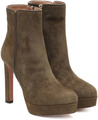 Aquazzura Quant 120 suede ankle boots