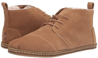 Toms Bota (Toffee Suede with Faux Shearling) Men's Lace up casual Shoes