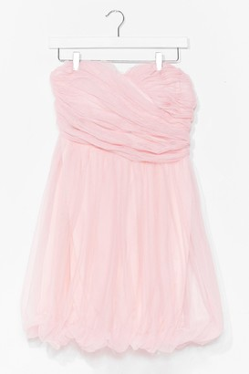 Nasty Gal Womens Marshmallow Out Bandeau Mini Dress - Baby Pink