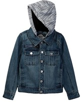 Urban Republic Washed Denim Jacket with Fleece Hood (Big Boys)