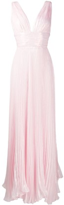 Maria Lucia Hohan Priya pleated metallic gown
