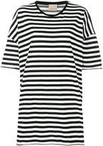 Laneus striped oversized T-shirt - women - Cotton/Polyamide - S