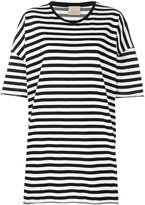 Laneus striped oversized T-shirt - women - Cotton/Polyamide - XS