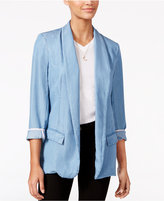 Jessica Simpson Open-Front Chambray Blazer